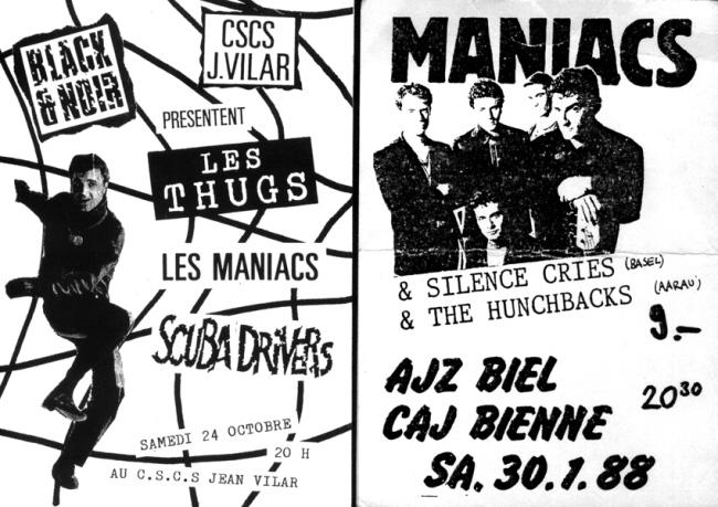flyers Les Maniacs Thugs Scuba Drivers