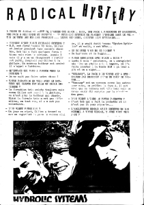 Interview Hydrolic Systems 1991