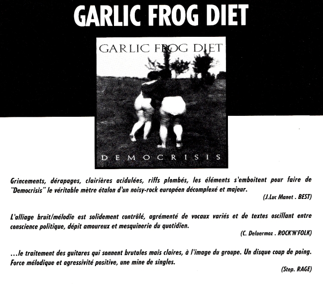 Pub Garlic Frog Diet Democrisis