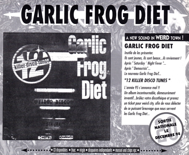 Pub Garlic Frog Diet 12 Killer Disco Tunes